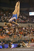 photo by Tim Casey<br /> <br /> Florida freshman Amy Ferguson earns a 9.850 on the floor exercise during the No. 1-ranked Gators' 196.50-196.25 win against the No. 4-ranked Auburn Tigers on on Friday, January 16, 2009 at the Stephen C. O'Connell Center in Gainesville, Fla.