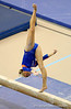 (Casey Brooke Lawson / Gator Country) Corey Hartung warms up on beam during the Gators gymnastics meet against Alabama on Friday, February 20, 2009.
