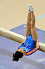 (Casey Brooke Lawson / Gator Country) Amanda Castillo competes on beam during the Gators gymnastics meet against Alabama on Friday, February 20, 2009.