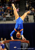 (Casey Brooke Lawson / Gator Country) UF senior Corey Hartung competes on vault during the Gators gymnastics meet against Alabama on Friday, February 20, 2009.