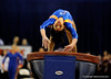 (Casey Brooke Lawson / Gator Country) Amanda Castillo competes on vault during the Gators gymnastics meet against Alabama on Friday, February 20, 2009.