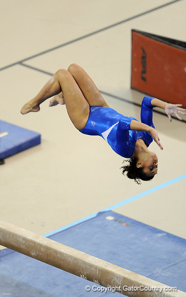 Maranda Smith competes on the beam during the University of Florida Gators gymnastics meet against the University of Michigan Wolverines on Friday, March 6, 2009 in the Steven C. O'Connell Center. / Gator Country photo by Casey Brooke lawson