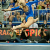 Florida freshman Rachel Spicer performs an exhibition on floor during the Gators' 197.525, 196.825  win against the Georgia Bulldogs on Friday, February 24, 2012 at the Stephen C. O'Connell Center in Gainesville, Fla. / Gator Country photo by Saj Guevara