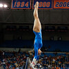 Florida senior Nicole Ellis performs on bars during the Gators' 197.525, 196.825  win against the Georgia Bulldogs on Friday, February 24, 2012 at the Stephen C. O'Connell Center in Gainesville, Fla. / Gator Country photo by Saj Guevara