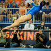 Florida junior Marissa King performs on the floor during the Gators' 197.525, 196.825  win against the Georgia Bulldogs on Friday, February 24, 2012 at the Stephen C. O'Connell Center in Gainesville, Fla. / Gator Country photo by Saj Guevara