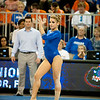 Florida senior Amy Ferguson performs on floor during the Gators' 197.525, 196.825  win against the Georgia Bulldogs on Friday, February 24, 2012 at the Stephen C. O'Connell Center in Gainesville, Fla. / Gator Country photo by Saj Guevara