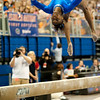 Florida junior Ashanée Dickerson performs on beam during the Gators' 197.525, 196.825  win against the Georgia Bulldogs on Friday, February 24, 2012 at the Stephen C. O'Connell Center in Gainesville, Fla. / Gator Country photo by Saj Guevara
