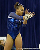 Florida freshman Kytra Hunter performs on the floor exercise during the Gators' 196.175-191.875 win against the Illinois-Chicago Flames on Friday, January 13, 2012 at the Stephen C. O'Connell Center in Gainesville, Fla. / Gator Country photo by Tim Casey