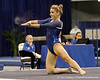 Florida senior Amy Ferguson does a Gator chomp during the floor exercise during the Gators' 196.175-191.875 win against the Illinois-Chicago Flames on Friday, January 13, 2012 at the Stephen C. O'Connell Center in Gainesville, Fla. / Gator Country photo by Tim Casey