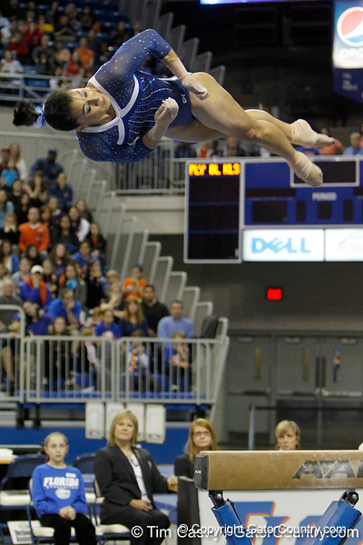 Florida junior Marissa King performs on the balance beam during the Gators' 196.175-191.875 win against the Illinois-Chicago Flames on Friday, January 13, 2012 at the Stephen C. O'Connell Center in Gainesville, Fla. / Gator Country photo by Tim Casey