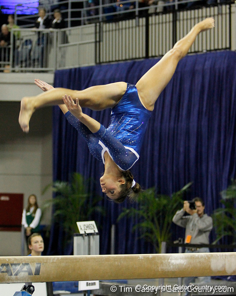 Florida sophomore Alaina Johnson performs on the balance beam during the Gators' 196.175-191.875 win against the Illinois-Chicago Flames on Friday, January 13, 2012 at the Stephen C. O'Connell Center in Gainesville, Fla. / Gator Country photo by Tim Casey