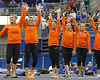 Florida gymnasts wave to fans after the Gators' 196.175-191.875 win against the Illinois-Chicago Flames on Friday, January 13, 2012 at the Stephen C. O'Connell Center in Gainesville, Fla. / Gator Country photo by Tim Casey