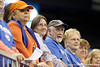 Florida fans cheer during the Gators' 196.175-191.875 win against the Illinois-Chicago Flames on Friday, January 13, 2012 at the Stephen C. O'Connell Center in Gainesville, Fla. / Gator Country photo by Tim Casey