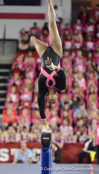 Florida vs Georgia, Feb 16, 2013 - Ashan'ee Dickerson scored 9.850 on Beam