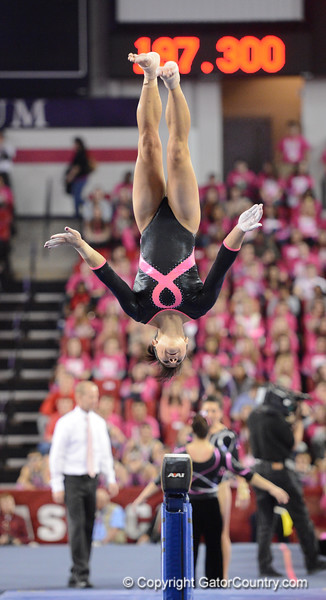 Florida vs Georgia, Feb 16, 2013 - Marissa King scored 9.725 on Beam