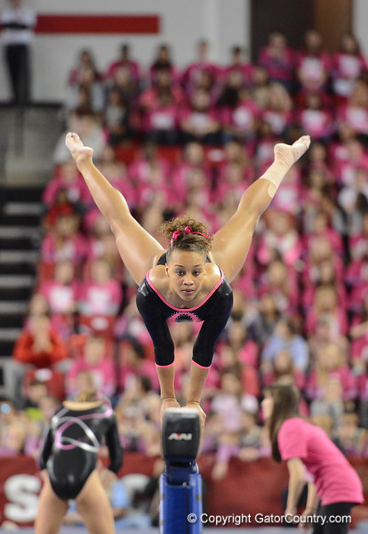 Florida vs Georgia, Feb 16, 2013 - Kytra Hunter scored 9.875 on Beam