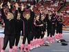 Florida vs Georgia, Feb 16, 2013 - Gator Team accepts congratulations from appreciative crowd for their win