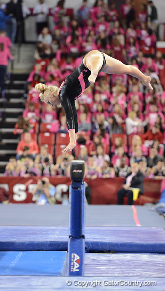 Florida vs Georgia, Feb 16, 2013 - Rachel Spicer performed an exhibition routine on Beam