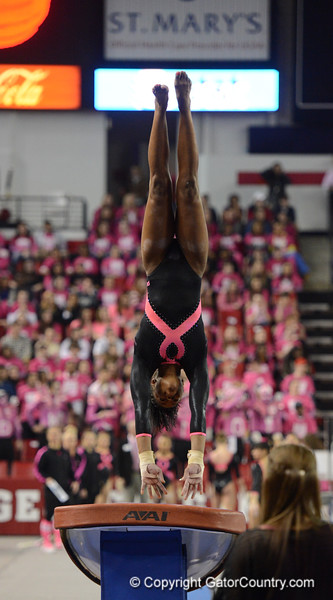 Florida vs Georgia, Feb 16, 2013 - Ashan'ee Dickerson scored 9.875 on Vault