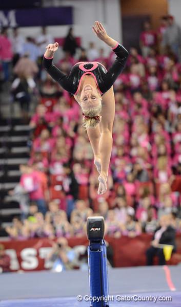 Florida vs Georgia, Feb 16, 2013 - Rachel Spicer performed an exhibition routine on Beam