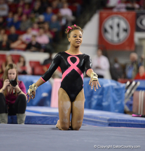 Florida vs Georgia, Feb 16, 2013 - Kytra Hunter scored 9.800 on Floor
