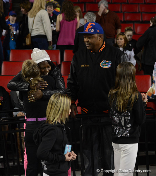Florida vs Georgia, Feb 16, 2013 - Gator team gets to meet with parents before boarding their bus for the trip back to Gainsesville