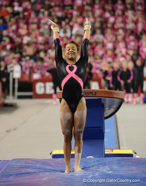Florida vs Georgia, Feb 16, 2013 - Kytra Hunter scored 9.950 on Vault