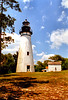 "In October 1838 a contract for $7,000 was awarded to Winslow Lewis to take down the Cumberland Island Light and ""building a new light-house and dwelling house on Amelia Island, East Florida, and fitting up the light-house with patent lamps, reflectors, etc.""  The new site was purchased atop the highest hill on the island.  Using the bricks from the old lighthouse the Amelia Island Light was completed on March 4, 1839."