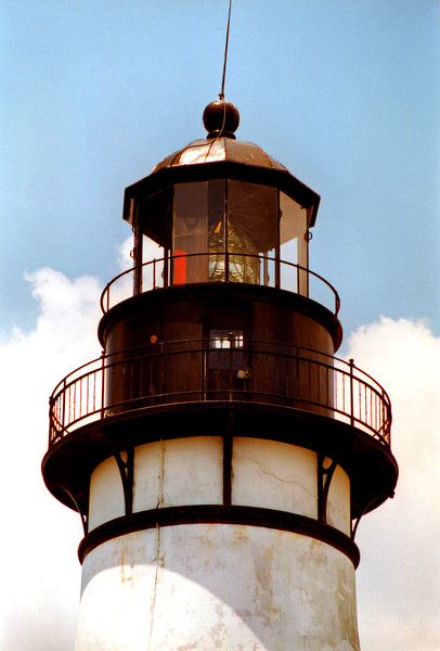 A Third Order Fresnel lens from Paris was installed in the lantern in 1856 replacing the oil lamp and reflector system.