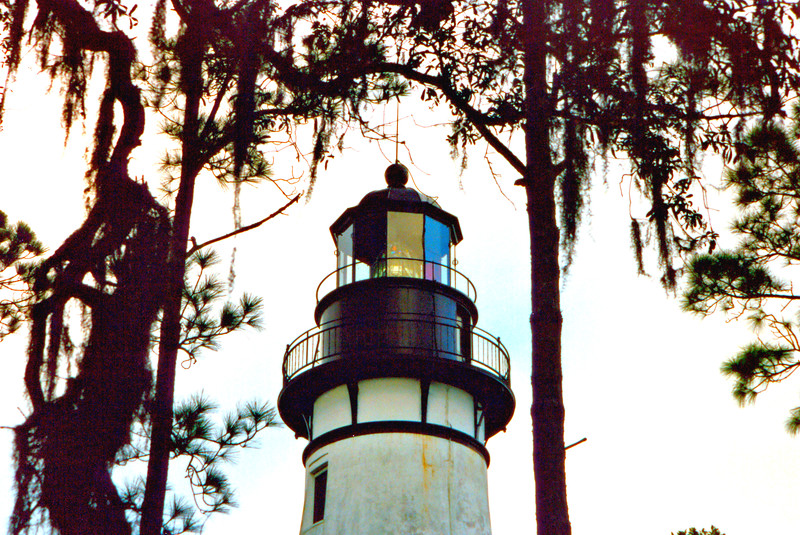 The light station has had several keepers dwellings over the years.  The first was a brick house and the second was a two story residence built to the northwest of the tower.  The third dwelling was a one-story wooden hipped roof structure which was torn down in the 1950's by the Coast Guard and replaced with the current ranch-style house.