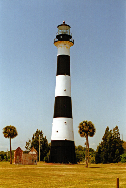 The outbreak of the Second Seminole War led Scobie to abandon his post at the isolated Cape Canaveral Light.  In his place Captain Mills Olcutt Burnham was appointed.  Burnham had immigrated to Florida from Vermont a few years earlier and sailed a schooner in the turtle trade.  He and his wife Mary moved their family to the Cape in July 1853 where Mills would serve as Keeper for the next 33 years.
