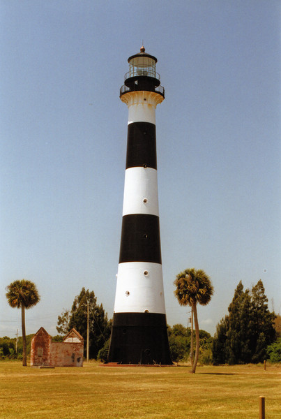 In 1967 the Cape Canaveral Lighthouse was finally automated.  The resident Keepers were removed and the 1876 dwellings were demolished.  The only building remaining from the lighthouse station was the oil house.