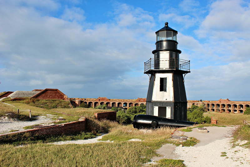 In 1908 the Dry Tortugas were declared a nature sanctuary by the U.S. government.  A fire broke out on Garden Key in 1912 which destroyed the Keepers dwelling and several of the soldier's barracks.  It was believed that the Keeper, who used the outhouse around midnight, had left a lit cigarette behind sparking the fire. The following year an automated acetylene light was installed in the lantern.