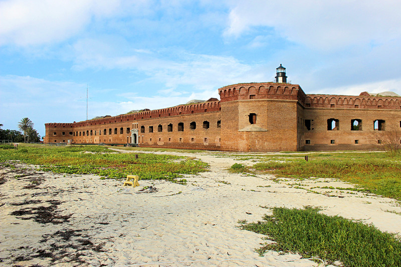 After the United States purchased Florida from Spain in 1819 the Navy sent a force to survey and report on the Florida Keys in March 1822.  Recommendations were made to build lighthouses at Cape Florida, Sambo Keys (later built at Key West) and the Dry Tortugas.  Congress appropriated funds to begin construction in May of 1824.