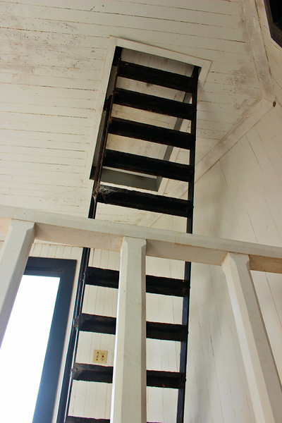 **Ladder to the lantern** Flaherty complained of poor provisions, mosquitoes (which led to a nearby pond being filled in) and the condition of the dwelling.  In addition, Rebecca Flaherty wrote to the wife to President John Quincy Adams complaining of the hard conditions on Garden Key.