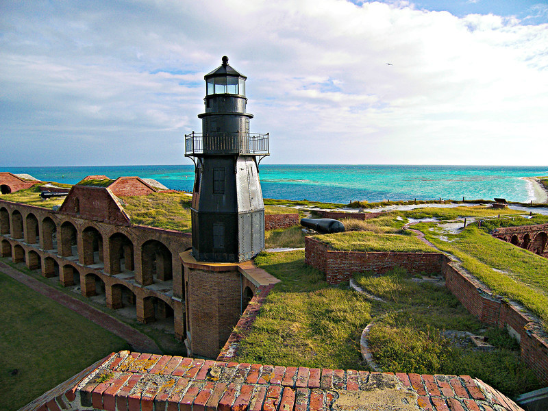 The islands were first visited by Ponce de Leon in June 1513. He named the islands Las Tortugas due to the large number of sea turtles his crew harvested. In later years sailors referred to the area as the Dry Tortugas since there was no source of fresh water in the islands.