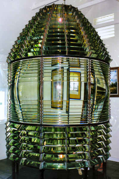 The museum at the lighthouse has on display the First Order Fresnel lens from the Sombrero Key Light.  During the '90's you were allowed to walk into the center of the lens - the priceless lenses were not kept off limits from the visitors.