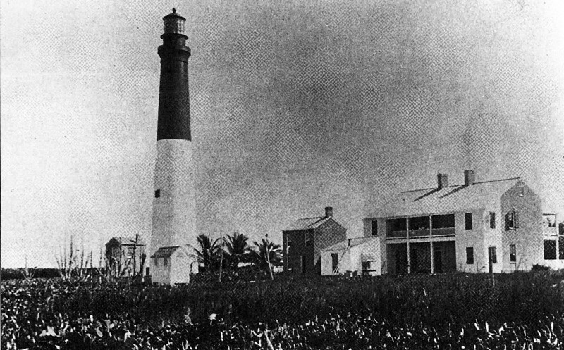 A picture of the Loggerhead Key Light Station shortly after its completion from the Florida State Archives.