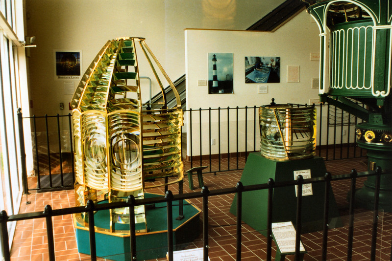 Also on display was a Third Order lens which was used in the tower from 1933, when the light was electrified, until 1971 when it was replaced by a modern optic. The lens was originally used in the Sapelo Island Light in Georgia. The lens was restored and placed back into the lantern in 2004.