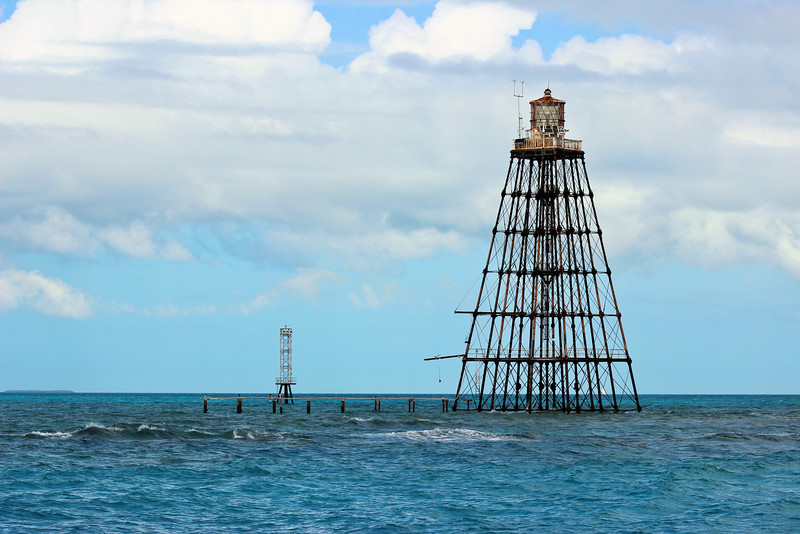 In 2013 several old reef lighthouses were deemed to be unsafe by the Coast Guard and they installed small 50 foot towers next to them.  The navigational light was removed from Sand Key Lighthouse and moved to one of these newer structures.  On June 1, 2017 the lighthouse was declared 'excess property' by the GSA and is currently being auctioned, hopefully the Florida Keys Reef Lights Foundation (www.reeflights.org) may obtain ownership and restore the structure.