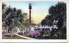 An old postcard view of the Sanibel Island Light Station