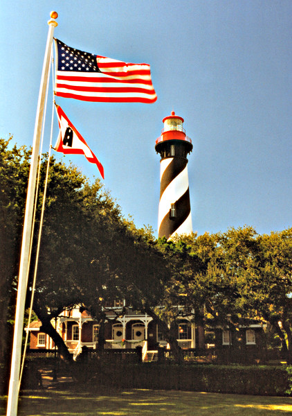 In 1823 the Customs Collector for St. Augustine advertised a contract to build the lighthouse.  The contract specified that 20 feet of the Spanish watch tower was to be removed, and then walls of 30 feet were to be built on the remaining portion.  Work commenced in the fall of 1823 and after a few delays caused by the shortage of construction materials and oil, the lighthouse was completed in March 1824.