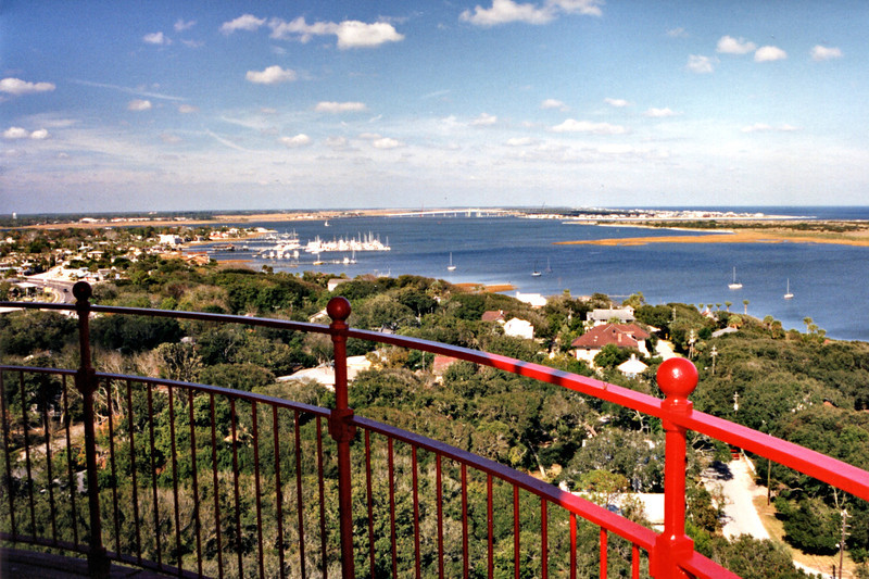*The view from the gallery atop the St. Augustine Light.* In 1886 the great Charleston earthquake caused the tower to 'sway violently' according to the Keeper's log entry; however no damage occurred to the tower.