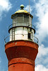 In 1858 construction began on the third and current St. Johns River Lighthouse several hundred yards southwest of the prior tower.  The brick 63 foot tower was lit of the first time on January 1, 1859.  The lantern was equipped with a fixed 3rd Order Fresnel lens.