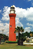 Congress made appropriations totaling $14,000 in 1828 and 1829 to build the first St. Johns River Lighthouse.  In 1830 Winlsow Lewis constructed a 65 foot brick tower plastered with cement on the southern side of the river.  The lamp was fitted with 15 oil lamps with 16 inch reflectors and was first lit by Keeper William Livingston.