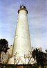 "In May 1828 Congress made an appropriation of $6,000 for the construction of a lighthouse at St. Marks. The construction site chosen by the Pensacola Collector of Customs was Oscilla Point at the entrance to the river. The point had ""an extensive & solid Bed of Lime stone Rock"" on which to build and the property was owned by the Federal government."