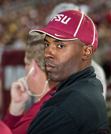 Former Florida State QB and Heisman award winner Charlie Ward watches as #2 ranked Florida State Seminoles dominate Syracuse 59-3 Saturday at Doak Campbell stadium.  The Seminoles complete the 2013 home stand next weekend against Idaho before travelling to Gainesville to close out the regular season.