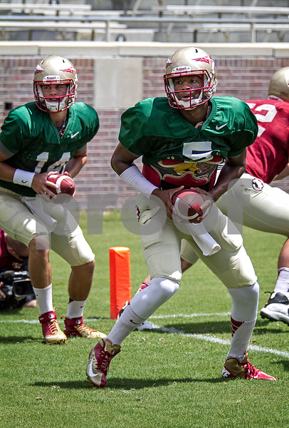 "Jameis Winston and Jacob Coker continue the battle for the starting job as Fall camp begins winding down.  The Seminoles scrimmaged for the 2nd time during camp Wednesday.  Jimbo Fisher was pleased with the results of Wednesday's scrimmage saying, ""Both sides probably won their share of situations … had their moments going back and forth, pretty competitive in the series. I thought, consistent football this time"".  The Seminoles open the season at Pittsburgh Labor Day night."