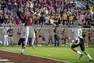 WR Kelvin Benjamin goes high for a TD, his second of the night on only 3 receptions.  Florida State set a school record for most points scored as they dominated Idaho 80-14 in the last home game of the season.