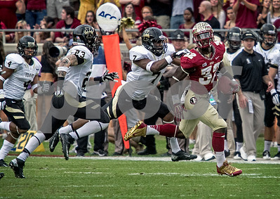 James Wilder Jr breaks loose for a huge gain Saturday.  Wilder finished the day with 85 yards on only 4 carries and rushed for a TD.  Florida State set a school record for most points scored as they dominated Idaho 80-14 in the last home game of the season.